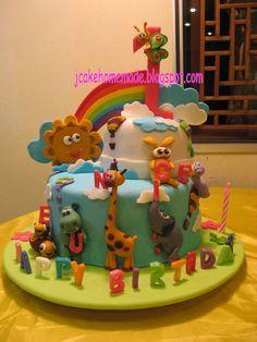 Cake Kids and Baby Images - Baby Cake Images Baby Tv Cake, Baby Cake Pops, Baby Girl Cakes, Baby Birthday Cakes, Happy Birthday, Africa Cake, Noahs Ark Cake, Zoo Cake, Foundant