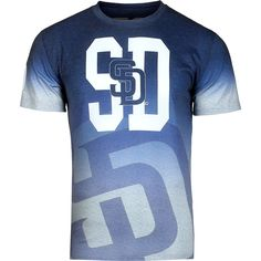 MLB San Diego Padres Gradient Sublimated T-Shirt - Navy/Gray