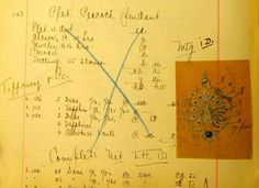 page from Gustav Manz jewelry stockbook, circa 1910-15