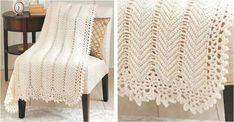 This stunning crocheted blanket exudes timeless elegance. It is a beautiful piece guaranteed to make drab furniture appear sophisticated and stylish . Crochet Round, Knit Or Crochet, Crochet Crafts, Free Crochet, Crochet Tutorials, Crochet Ideas, Crochet Projects, Crochet Boarders, Crochet Wedding