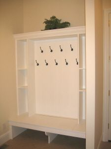 Want to make an organized entry way. This is an idea.