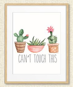 Look at this Green Cactus 'Can't Touch This' Print on #zulily today!