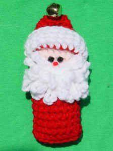 Free Crochet Pattern Snowman & Santa Ornaments #81