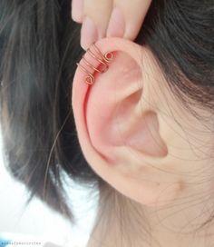 Papoulas douradas: DIY: Ear Cuffs Bronze Simples e Duplo