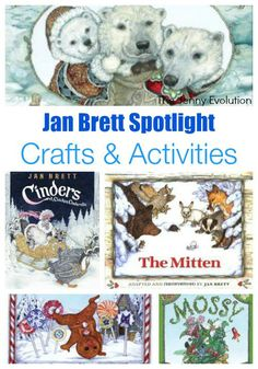 Enjoy these fun activities and crafts to do along with Jan Brett books.