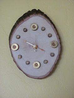 Shotgun shell and 9mm wall clock