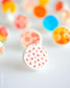 Sugar Stamp Meringue Kisses. Sweet, light kisses dressed in adorable sugar stamps.