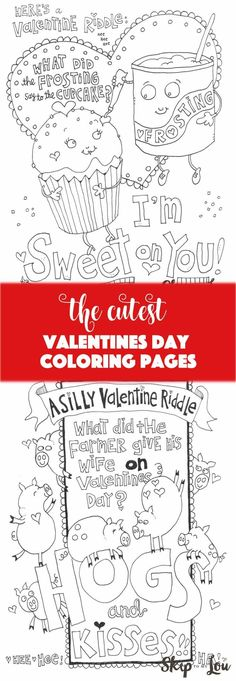 Free Valentine's Day coloring pages! Perfect for a class party or kid's activity. #valentinesday #coloring #printable #kidsactivity