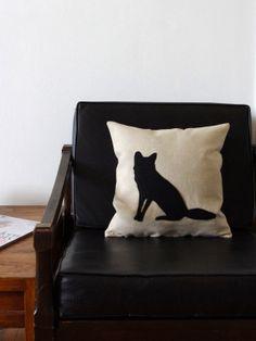 Fox Silhouette Decorative Pillow by regansbrain on Etsy, $39.00
