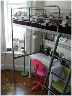 Ikea Hack Turn A Loft Bed Into A Regular Bed Desk