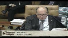 Depois de discursar por quase 5 horas, proferindo seu voto favorável ao financiamento empresarial das campanhas eleitorais, o ministro do STF Gilmar Mendes n...