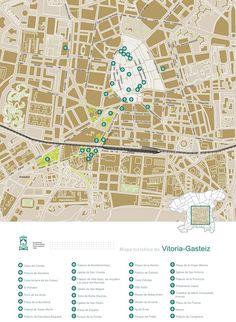 Vitoria-Gasteiz hotel map   Maps   Pinterest