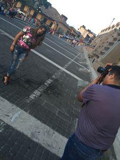 Backstage photoshoot en Papantla con Blaisse Franco y Andrea Vargas. Outfit Doll House Boutiquec