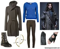 Kili - I like the sweater and jeans. Maybe the earrings. Don't think I could pull of the boots or gloves though