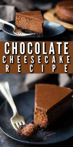 This chocolate cheesecake was so sinfully decadent! Smooth, creamy, and SO chocolate-y! #chocolate #cheesecake #recipe #dessert #valentinesday #easy #best #philadelphia #deathby #glutenfree #withcocoapowder #newyork #oreo #dark #white #bars #raspberry #video #simple #double #grahamcrust #ultimate #decadent #creamy #homemade #squares #bakingamoment Chocolate Cheesecake Recipes, Brownie Recipes, Round Cake Pans, Round Cakes, Appetizer Recipes, Dessert Recipes, Homemade Croissants, Oreo Crust, Gluten Free Chocolate