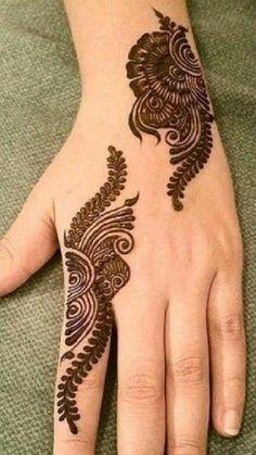 Latest Henna Designs, Finger Henna Designs, Simple Arabic Mehndi Designs, Henna Tattoo Designs Simple, Mehndi Designs Book, Mehndi Designs 2018, Modern Mehndi Designs, Mehndi Design Pictures, Mehndi Designs For Beginners