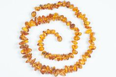 Perfect colour Baltic amber necklace. Teething amber jewelry. Lithuanian honey amber beads.