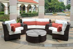 Discover the best indoor and outdoor wicker furniture for your patio. We have tons of outdoor wicker furniture sets including sofas, chairs, dining sets, and more. Find the most beautiful wicker material furniture for your home today. Sectional Patio Furniture, Outdoor Wicker Patio Furniture, Fire Pit Furniture, Sofa Couch, Patio Furniture Sets, Furniture Layout, Furniture Ideas, Wicker Sofa, Rattan Furniture