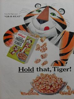 1950s FROSTED FLAKES Kelloggs Vintage Advertisement Illustration by Christian Montone, via Flickr