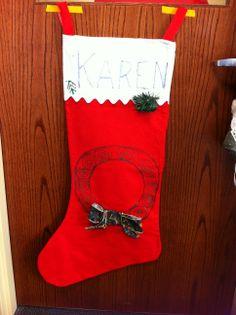 Karen's stocking at CCTSI in the Leprino Building #CUHSLibrary