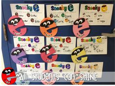 All Students Can Shine: Sneaky E Words First Grade Words, First Grade Phonics, 2nd Grade Ela, First Grade Writing, Grade 1, Grade Spelling, Teaching Vowels, Teaching Abcs, Teaching Reading