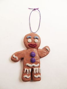 Not my gumdrop buttons! Gingy from Shrek. Gingerbread man Christmas ornament.