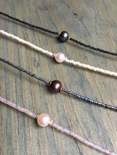 Beaded Pearl Choker Necklace