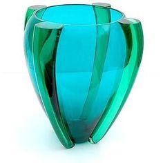 Murano art glass vase in aqua, teal and turquoise Murano Glass Vase, Glass Ceramic, Mosaic Glass, Stained Glass, Cristal Art, Art Of Glass, Cut Glass, Glass Design, Design Art