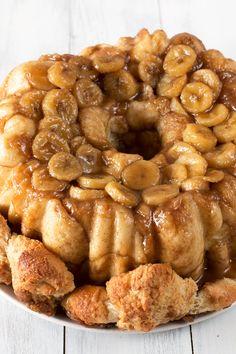 Bourbon Bananas Foster Monkey Bread | cakenknife.com