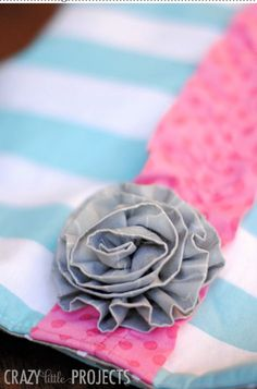 Fabric Flowers | Easy DIY Sewing Projects