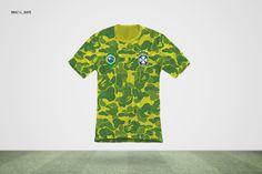 Brazil World Cup streetwear jersey  http://www.highsnobiety.com/2014/06/12/designer-world-cup-jerseys/#slide-1