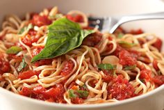 Tag Pic Pac - Tagliarini pasta in our housemade Picchi Pacchiu sauce of crushed tomatoes, garlic, olive oil and basil