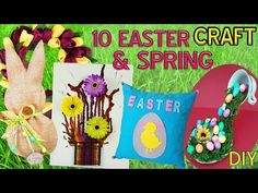 10 DIY Spring and Eater craft HOW TO! - YouTube