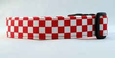 Red and White Checkered Dog Collar!!! Why doesn't your pup have one already?!!?!?!