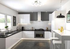 high gloss white kitchen - Google Поиск