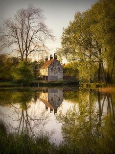 House by the lake.