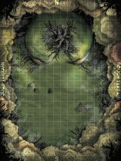 Cursed Tree Map by DwarfCookies Fantasy City Map, Fantasy World Map, Dungeons And Dragons Art, Dungeons And Dragons Homebrew, Forest Map, Tree Forest, Dnd World Map, Pathfinder Maps, Tree Map