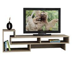 Mobile tv in nobilitato Tetra quercia - 40x125x40 cm