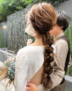 Ponytail Hairstyles, Wedding Hairstyles, Hair Ponytail, Hair Arrange, Nail Jewelry, Hair Setting, Dyed Hair, Wedding Bride, Bridal Hair