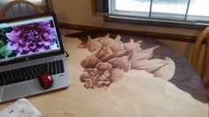 What This Man Does With Some Stain And A Kitchen Table Is Amazing