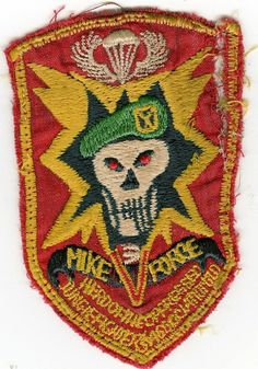 MIKE Force Special Forces locally made patch ~ Vietnam War