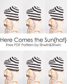 Here Comes the Sun{hat}    Free PDF Pattern    Summer Collection - Shwin&Shwin