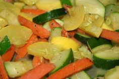 Yellow Squash | sauteed zucchini and yellow squash with carrots