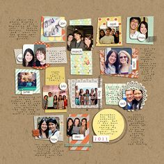 Scrapbooking page idea Year In Review: 2011