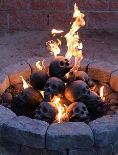 Terrifying Fireproof Human Skull Logs For Camping Trip