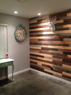 Com - reclaimed wood accent wall questions stuff i Wooden Accent Wall, Reclaimed Wood Accent Wall, Rustic Wood Walls, Reclaimed Wood Furniture, Wooden Walls, Barn Wood, Wood Wood, Industrial Furniture, Vintage Industrial
