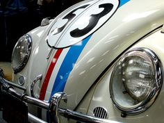 """This is a *real* Herbie used in the 1969 Disney film """"The Love Bug"""". It has a Porsche engine and was used in the race scenes."""