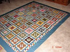 Nine patch Churn Dash - Churn Dash is my favorite block! A great use of your stash.