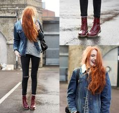 50 Ideas for red boats outfit winter doc martens Dr. Martens, Red Doc Martens, Doc Martens Style, Doc Martens Outfit, Mode Outfits, Casual Outfits, Olivia Emily, Masha Sedgwick, Fashion Models