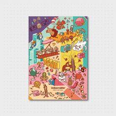 Cuaderno de notas DIN A5 con una ilustración de Dani Blanc, alias Achopistacho…